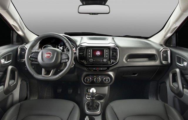 Interior do Fiat Toro 2018