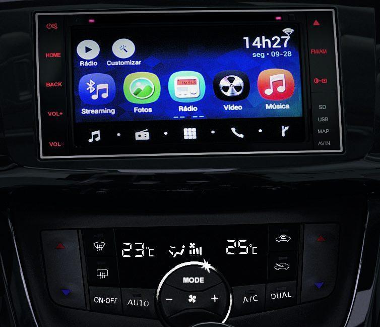 Central Multimídia do Nissan Sentra