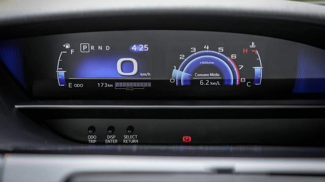 Painel do Toyota Etios 2019
