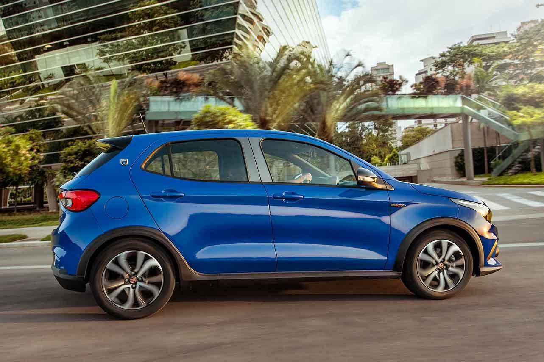 Fiat Argo Azul Lateral