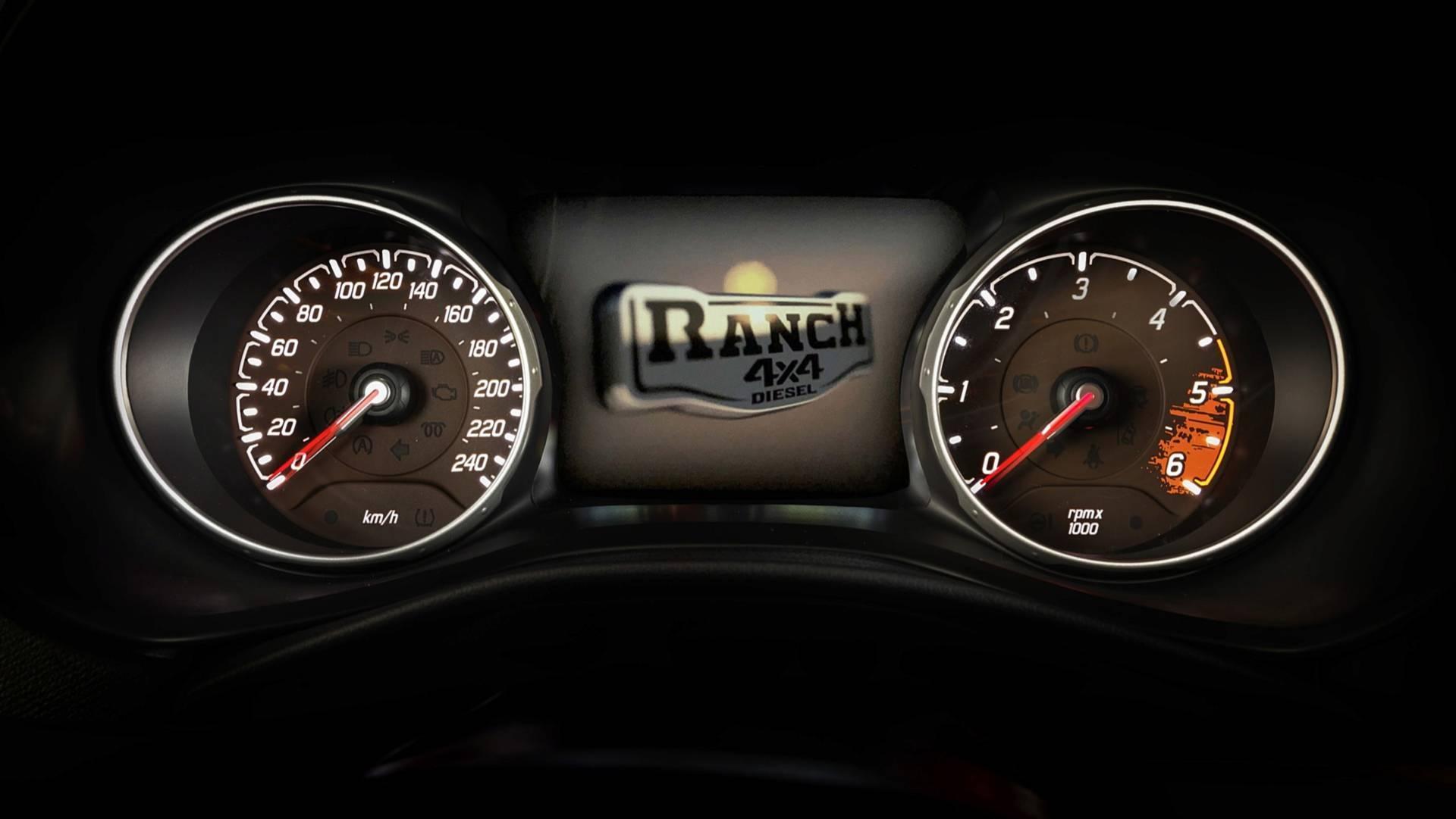 Detalhe da Fiat Toro Ranch 2019
