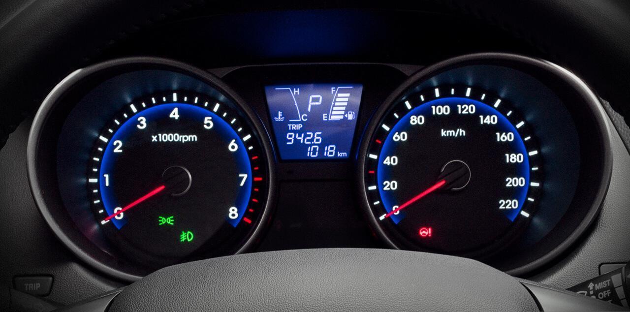 Hyundai ix35 2019 - velocímetro