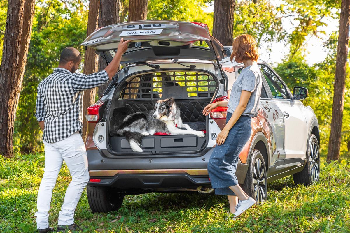Porta-malas do Novo Nissan Kicks para pets