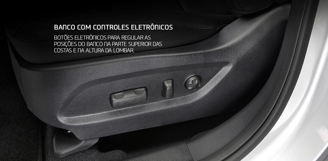 Hyundai Santa Fe 2018 controles eletrônicos